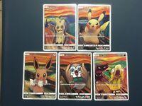 MUNCH Mimikyu Pikachu Eevee Psyduck Rowlet 5Set Promo Japanese pokemon card