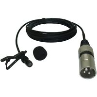 MINI CLIP ON VOCAL / INSTRUMENT MICROPHONE 3 PIN XLR MALE PLUG 48v PHANTOM POWER