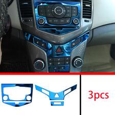 FOR Chevrolet Cruze 2010-2015 Blue titanium central console CD panel cover trim
