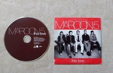"CD AUDIO MUSIQUE / MAROON 5 ""THIS LOVE"" 2T CD SINGLE 2004 CARDBOARD SLEEVE"