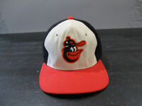 VINTAGE Baltimore Orioles Hat Cap Mens Fitted 7 3/8 Black Wool Baseball 90s *