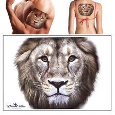 ad2f5b6fd Lion Temporary Tattoo Transfer 3D Colour Waterproof Body Art Arm Mens  Womens UK
