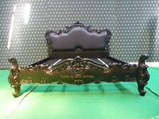 Super King 6'  Matt Black Gothic style oriental carved mahogany Bed not Rococo