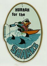 HURRAH THE SHARKS Vinyl Decal Sticker AMOCO PETROL OIL CRONULLA nrl RUGBY LEAGUE