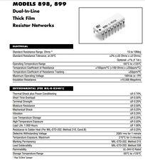 Bi Technologies 898-3-R1K 8 X 1K Resistencia de Red X 25 1000 Ohm 16 Pin DIL