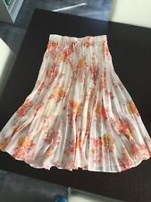 Forever New Pleated Floral Peach Pink Skirt Size 8