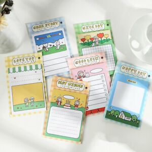 """""""Sweet Girl"""" Pack of 6 Sticky Notes Cute Stickers Adhesive Memo Pads Notepad"""