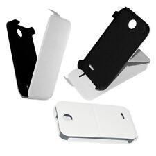 custodia eco pelle Bianca per HTC Desire 310 Flip case protezione con Stand