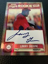 Larry Greene Phillies 2011 Playoff Contenders Rookie Ticket Auto #RT3