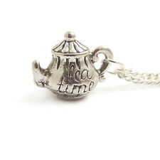 TEA POT necklace Alice in wonderland teapot necklace cup party charm mad hatter
