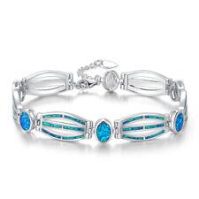 Blue Fire Opal Silver Women Jewelry Hot Sell Fashion Gemstone Bracelet OS413