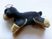 Hund DOG KUSCHELWUSCHEL Rottweiler Hund Karstadt Länge 30 cm schwarz braun NEU *