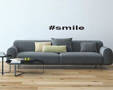 hastag inspired wall decal vinyl wall sticker #smile