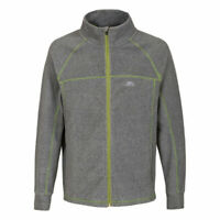 Trespass Sideway Mens Full Zip Fleece Jacket Softshell Lightweight Grey Jumper