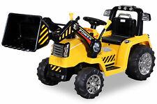 Kinder Elektro Auto Fahrzeug BAGGER Traktor Kinderauto Elektrobagger 2x35W