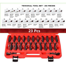 23pc Terminal Removal Tool Car Electrical Wiring Crimp Connector Puller KIT RED