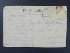Heath Nebraska NE Banner County 1918 4-Bar Cancel DPO 1890-1917 Postcard LKU