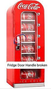 Coca-Cola Retro Vending Machine Style 10 Can Mini Fridge/Cooler, 12V (Damaged)