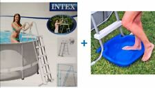 Set Intex Poolleiter 122 - 132 cm + Fußwanne Pool Leiter Badeleiter , (N)