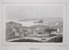 BIARRITZ GRAVURE De La Pylaie Schroeder Pyrenees Atlantique 1838
