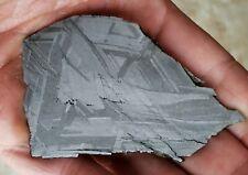 Brand new meteorite! Nwa 13006, 34.9g full slice, Stable iron, great etch.