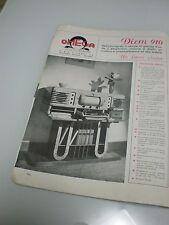 Omega Diem 910 Radio Fonografo Pubblicità d'epoca Originale del 1946 Magazine AD
