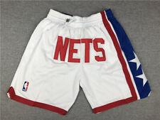 Brooklyn Nets Retro White Basketball Shorts Size: S-XXL