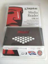 Kingston Multi Media Card Reader Writer FCR-HS4 USB 3.0 micro SD / SD Card NEW..