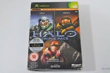 HALO, HALO 2 & MULTIPLAYER MAP PACK - Xbox Game - Microsoft - PAL - CIB