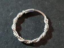 Twisted Wire Ring 8mm 22g (0.6mm) Bright Sterling Silver Nose Hoop Ring Earring