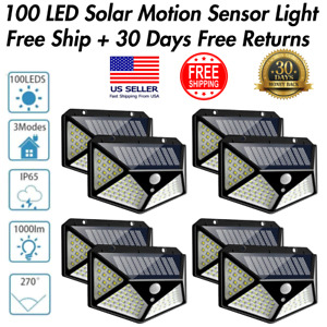 Waterproof 100 LED PIR Motion Sensor Solar Power Outdoor Garden Light Security