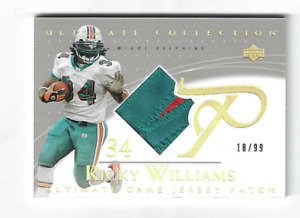 RICKY WILLIAMS 2003 UD ULTIMATE COLLECTION SICK GAME JERSEY PATCH 18/99 $40.00