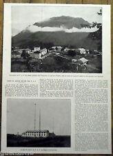 Document photo TSF Paris Saigon Laichau    1924 antique print