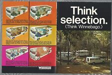 1970 WINNEBAGO 4-page advertisement, motor home, trailer, pickup