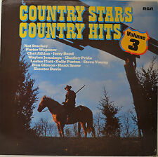 """COUNTRY STARS - COUNTRY HITS 3 - NAT STUCKEY - JERRY REED ETC. 12"""" LP (O233)"""