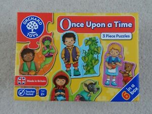 Orchard Toys box of 6 Once Upon a Time 3 Piece Puzzles age 2+