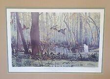 1979 Lee LeBlanc Signed Print Atachafalaya Basin Baton Rouge LA