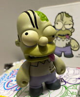 "Kidrobot The Simpsons Series 2 HOMER ZOMBIE 3"" vinyl W/ CARD Rare chase 1 Horror"