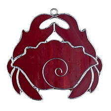 """Switchables"" Stained Glass Night Light Cover - CRABBY RED - #SW-272"