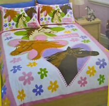 ~ Saddle Club - HORSE DOONA BED QUILT DUVET COVER SET Twin S