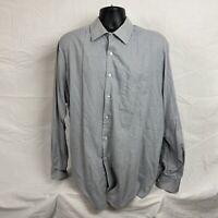 Mens Gray Check Button Regular Fit Wrinkle Free Shirt XL 17-17 1/2 XL Van Heusen