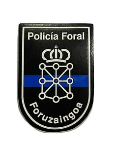"""Patch of the Foral Police of Navarra (Spain 🇪🇸)  """"the thin blue line"""" edition"""