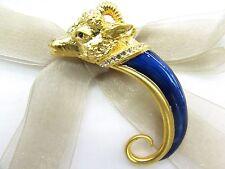 18KGP Capricorn Swarovski Element Austrian Crystal Rhinestone Brooch Pin