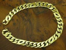 14kt 585 Yellow Gold Curb Chain Bracelet/Men's Jewelry/52,1g/22,5cm