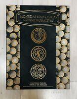Elegant Mexico Bimetalic Coins Folder Collector Album Bimetalicas Conmemorative