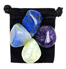 BAD DREAMS & NIGHTMARES  Tumbled Crystal Healing Set = 4 Stones + Pouch + Card