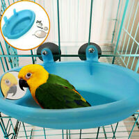 Bird Water Bath Tub for Pet Bird Cage Hanging Bowl Parrots Parakeet Birdbath  BA