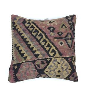 Handmade Kilim Cushion Cover, Kelim Pillow 50x50cm Turkish  Moroccan   5088