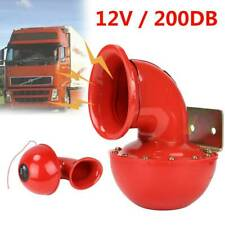 Loud 200DB 12V Red Electric Bull Horn Air Horn Raging Sound For Motorcycle Boat