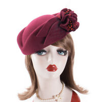 Womens Vintage Look Felt Wool Fascinator Cocktail Wedding Church Winter Hat A131
